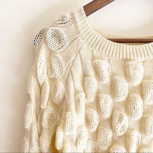 Pom Pom knit crop sweater